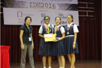 Julia, Joan and Jia Min won the Innovation Award 2016