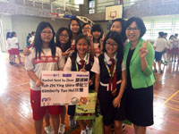 Interaction with Jiangcui Junior High School students and principal